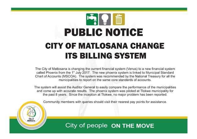 Financial System Change Collection notice